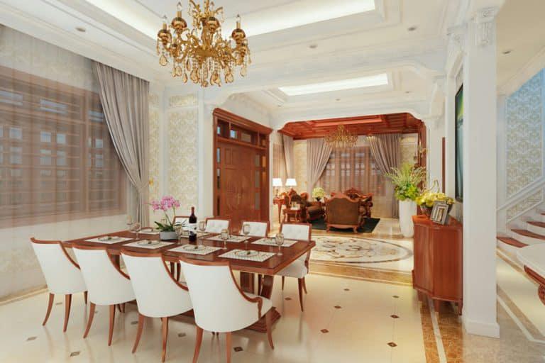 Không gian phòng ăn sang trọng và đầy lãng mạn