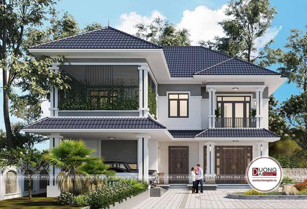 Biệt thự có thể làm mới mặt tiền đẹp và sang trọng, mở thêm cửa sổ