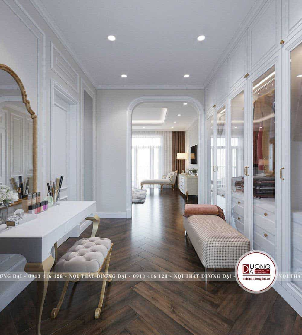 Thiết kế phòng ngủ tân cổ điển hiện đại đẹp