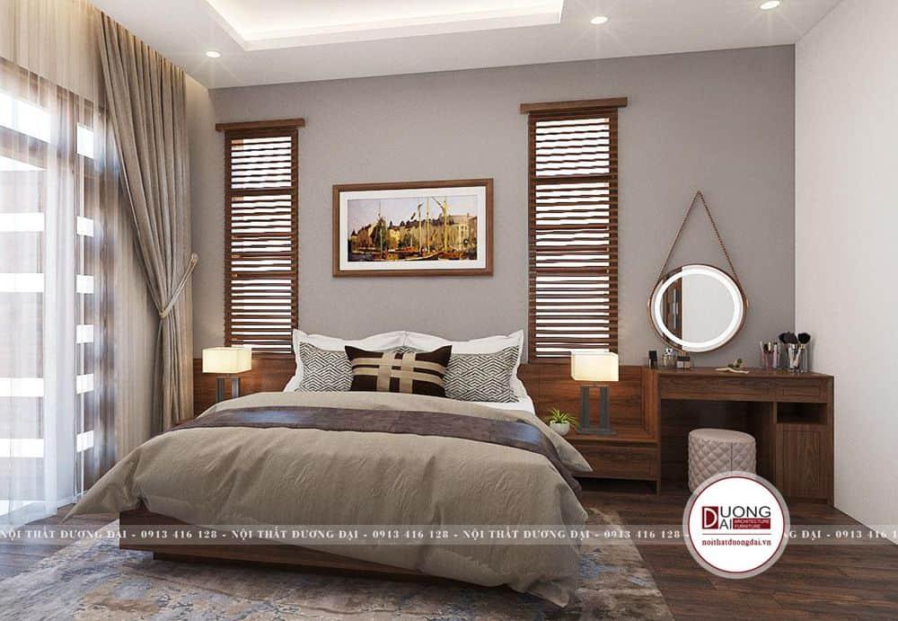 Phòng ngủ Master được trang trí đầy trang nhã