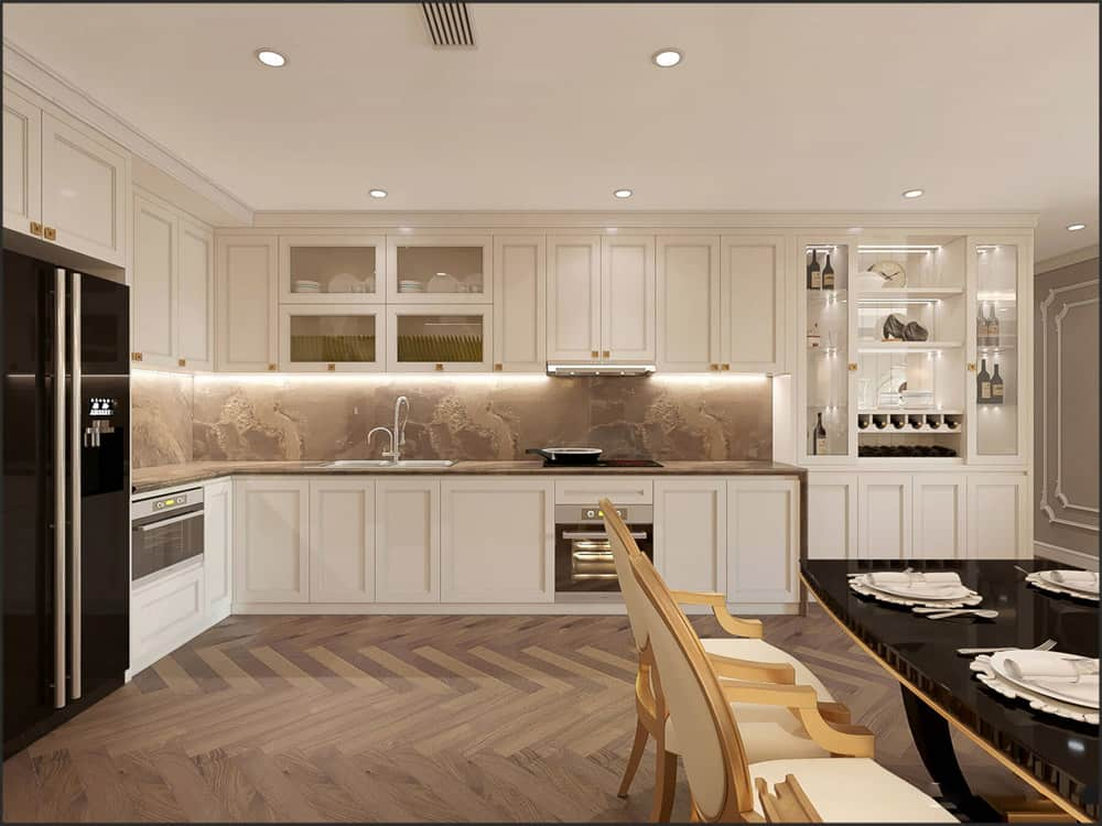 Phòng Bếp Tân Cổ Điển | 20+ Mẫu Tủ Bếp Đẹp, Báo Giá Trọn Gói