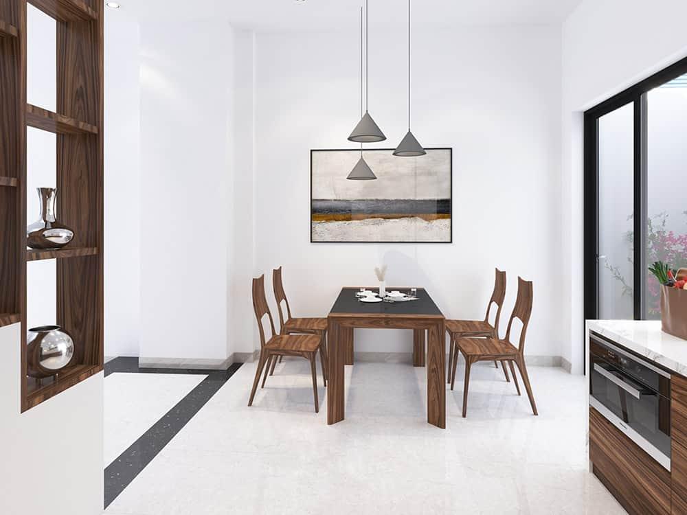 Bộ bàn ghế dành cho gia đình 4 người ấm cúng