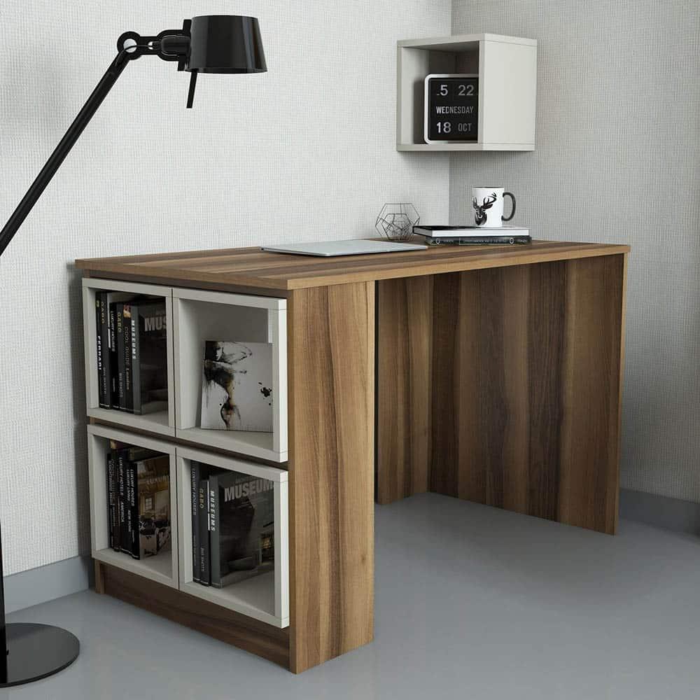 Mẫu bàn học ấn tượng với ngăn đựng bên cạnh bàn