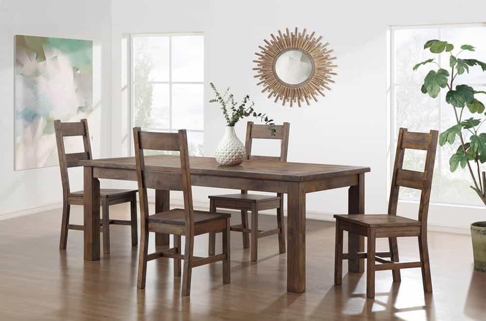 Thiết kế bàn ăn gỗ óc chó đầy trang nhã