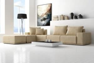 Nỉ cỏ may   Lý do bạn nên mua sofa từ vải nỉ cỏ may
