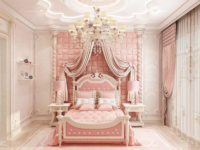 Sự xa hoa và lộng lẫy của phòng ngủ bé gái