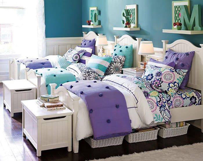 Phòng ngủ 3 giường siêu xinh xắn cho các bé