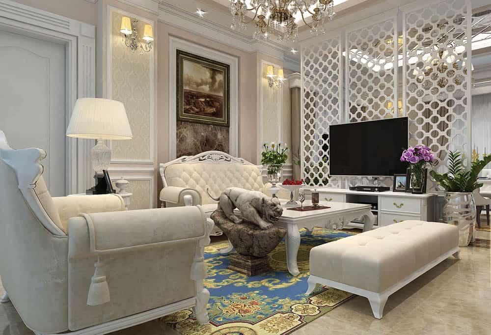 Không gian phòng khách đầy trang nhã với diện tích hạn hẹp