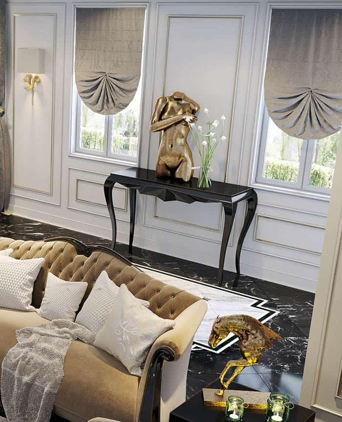 Mẫu bàn màu đen đầy quyến rũ và cao quý