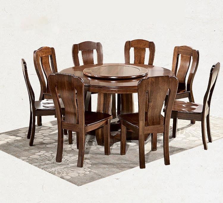Thiết kế bàn ăn gỗ óc chó siêu đẹp với kiểu dáng trang nhã