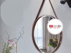 Gương dây da treo tường giá rẻ - ATFDC214
