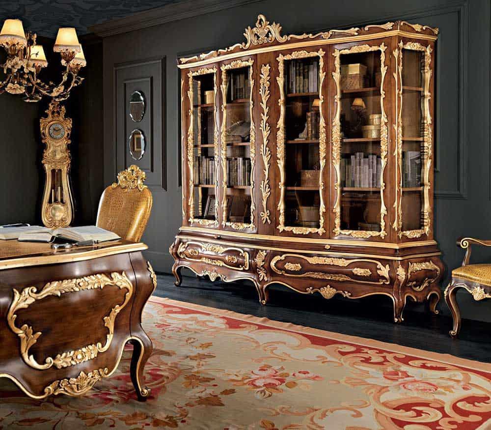 Mẫu tủ cổ điển đầy quý phái và lộng lẫy cho phòng làm việc