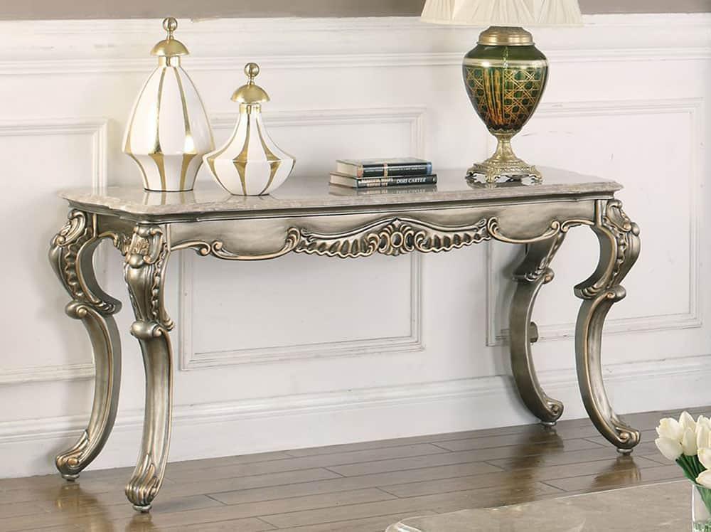 Mẫu bàn siêu sang trọng với màu bạc cao cấp