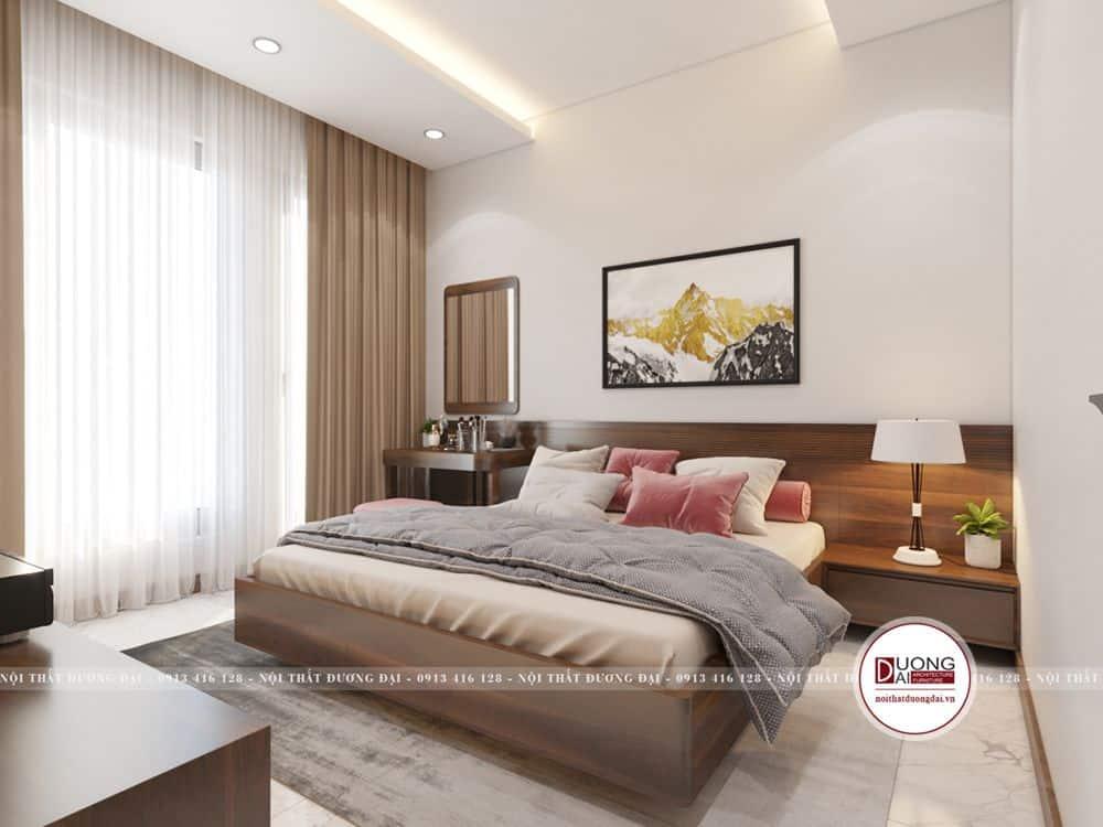 Không gian phòng ngủ 10m2 nên được sử dụng màu trắng