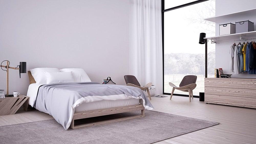 Phòng ngủ Minimalist đầy thư giãn và ấm áp