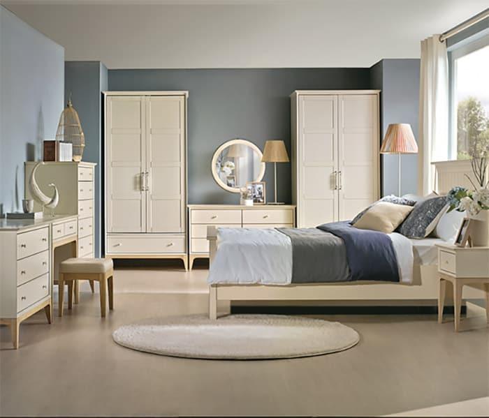 Thiết kế phòng ngủ với gam màu xanh pastel đầy ấm áp và trang nhã