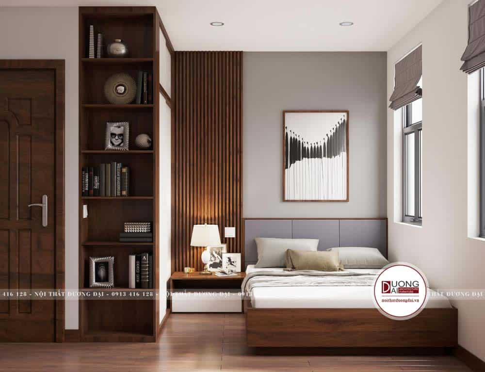 Thiết kế phòng ngủ đầy trang nhã, sang trọng trong diện tích nhỏ