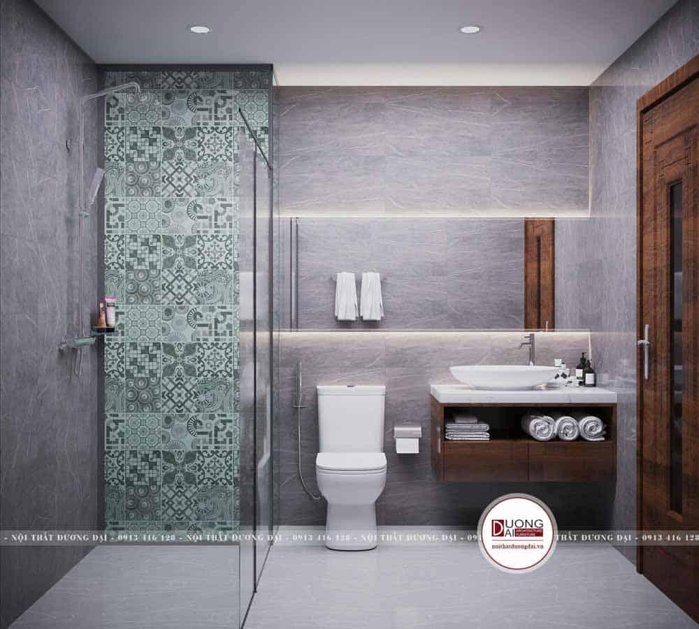Thiết kế phòng vệ sinh nhỏ gọn cho bé trai