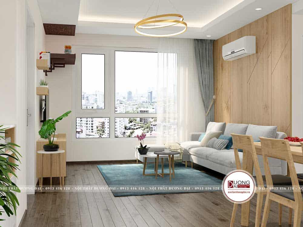 Thiết kế nội thất căn hộ 53m2 siêu hiện đại