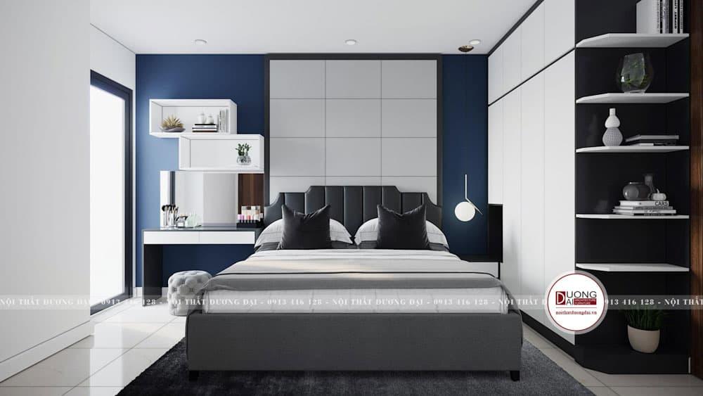 Thiết kế phòng ngủ đầy sang trọng với chất liệu gỗ chống ẩm An Cường