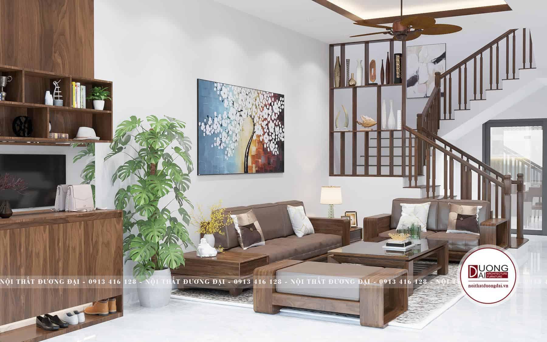Thiết kế phòng khách nhỏ với bộ sofa hiện đại siêu nhỏ gọn
