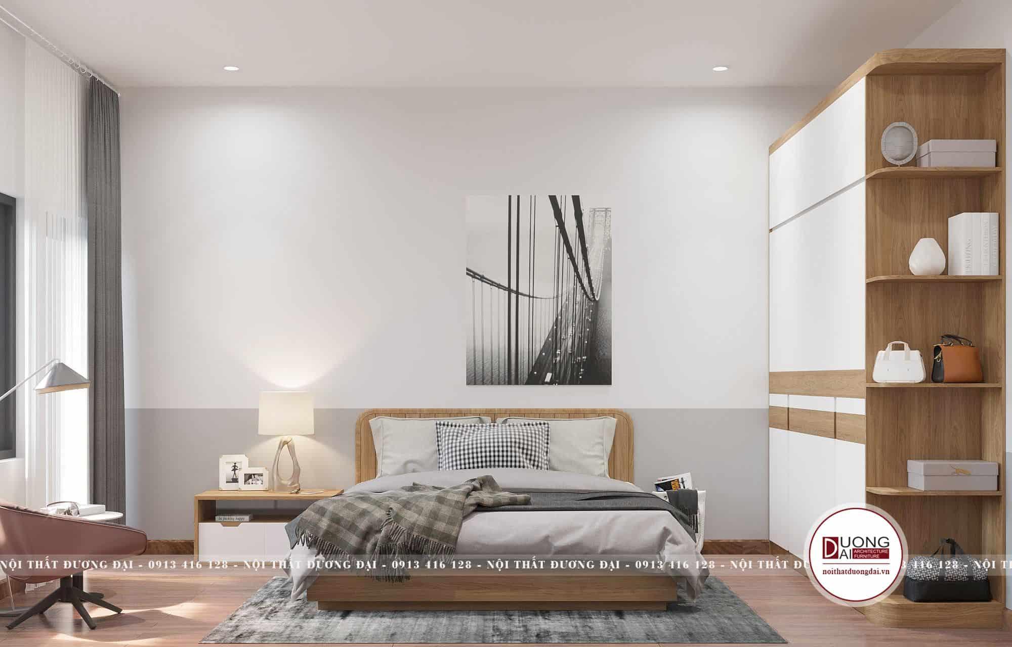 Thiết kế phòng ngủ Master đẳng cấp với màu sắc trang nhã