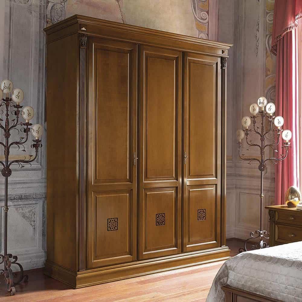 Tủ Áo Tân Cổ Điển 3 Cánh Đẹp Lộng Lẫy Và Xa Hoa Cho Phòng Ngủ