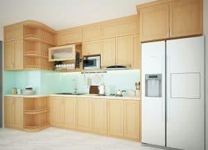 Tủ Bếp Gỗ Sồi Nga Hiện Đại Với BST 9+ Mẫu Tủ Tiện Nghi Nhất