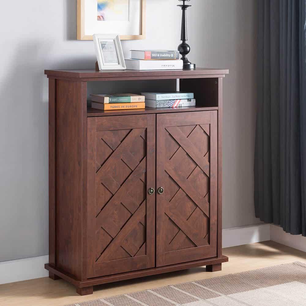 Tủ giày 2 cánh nhỏ gọn với chất liệu gỗ tự nhiên bền chắc