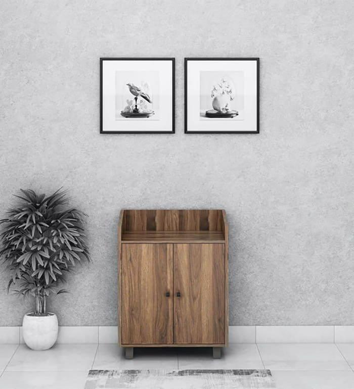 Thiết kế tủ siêu nhỏ gọn với đường vân gỗ rất cuốn hút