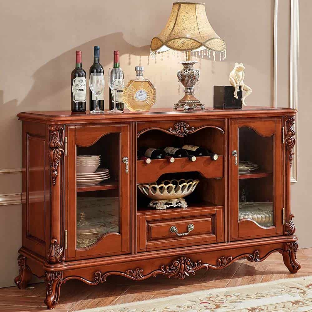 Tủ rượu nhỏ gọn với thiết kế tân cổ điển