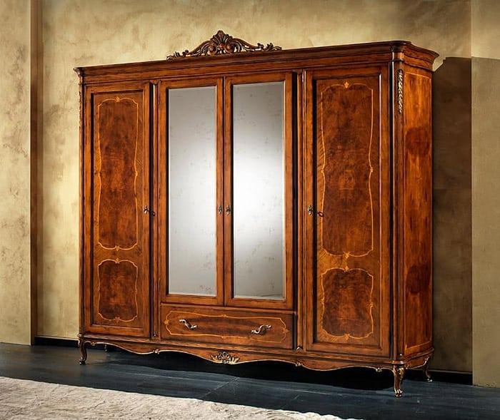 Nét đẹp tân cổ điển trong từng chi tiết tủ gỗ
