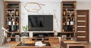 Thiết kế hiện đại với chất liệu gỗ Walnut siêu đẳng cấp