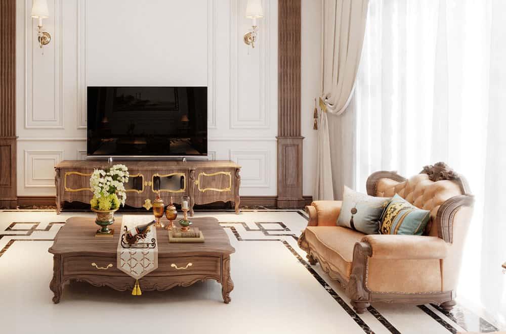Thiết kế bàn ghế gỗ tân cổ điển đầy nghệ thuật và hoàn mỹ