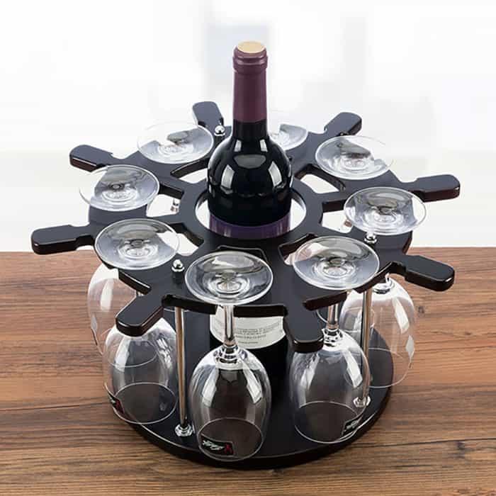 Mẫu giá treo 8 ly rượu vang đầy trang nhã
