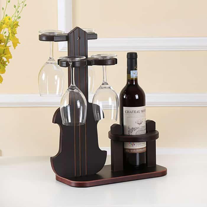Giá Treo Ly Rượu Bằng Gỗ Hiện Đại Và Độc Đáo Cho Phòng Bếp