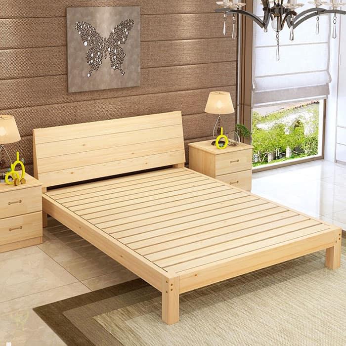 Giường có kiểu dáng đơn giản phù hợp giá tiền