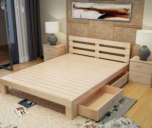 Mẫu giường có ngăn kéo dưới gầm giường