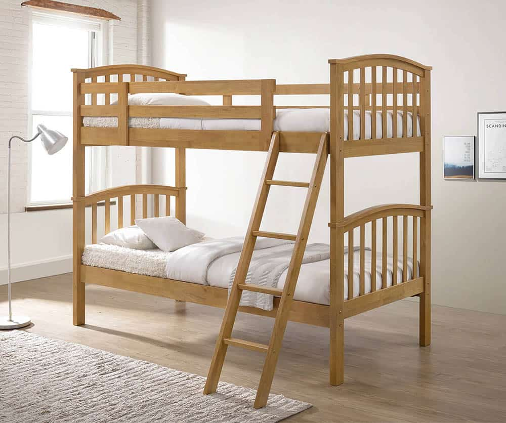 Thiết kế giường 2 tầng đơn giản và trang nhã