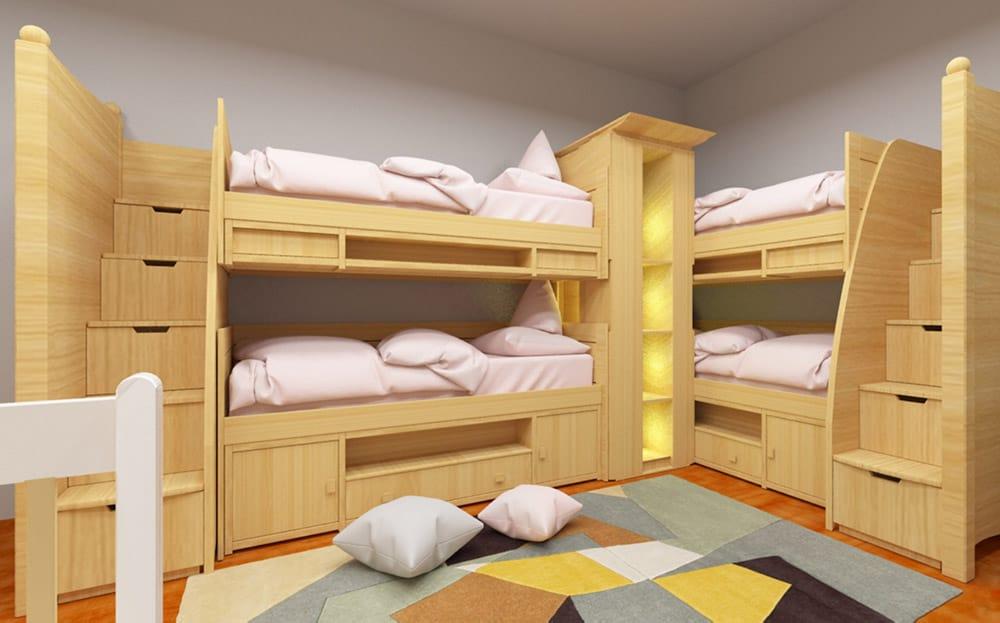 Giường Tầng Gỗ Sồi Nga | BST 9+ Mẫu Tiện Nghi Và Sang Trọng