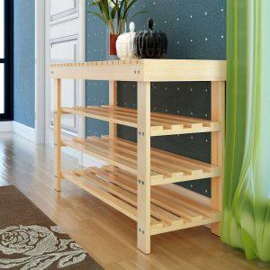Thiết kế kệ đơn giản từ gỗ thông đẹp mắt