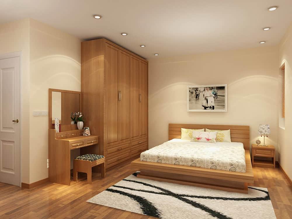 Thiết kế mẫu tủ đơn giản cho phòng ngủ hiện đại