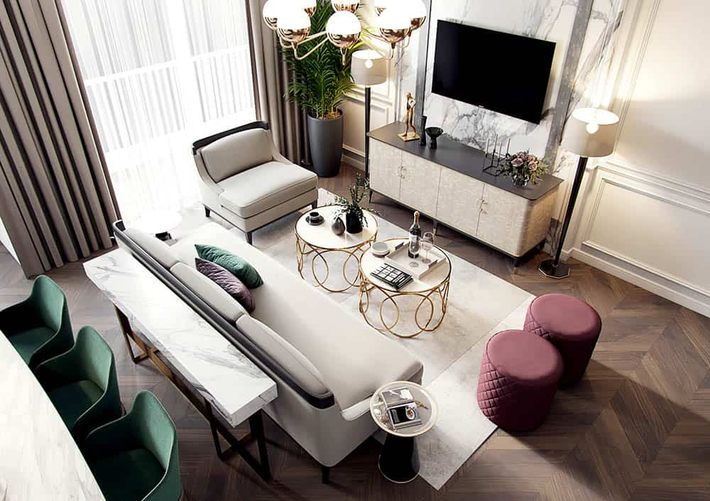 Mẫu thiết kế phòng khách diện tích nhỏ siêu đẹp