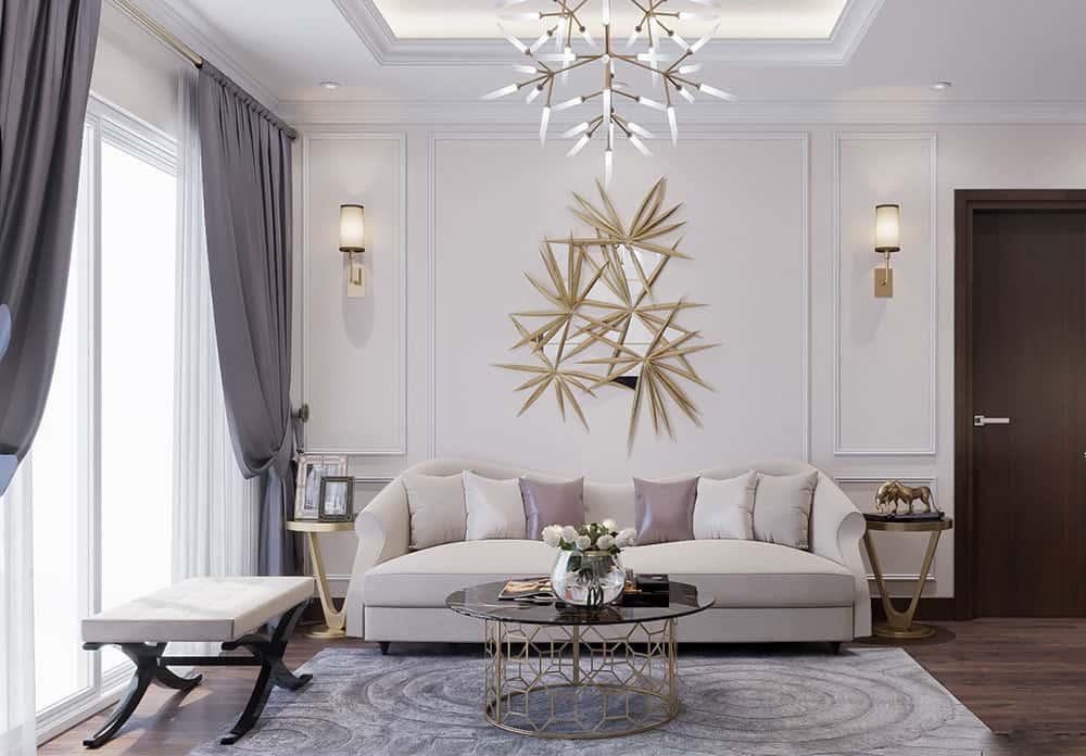 Trang trí phòng khách chung cư với nội thất đẹp và sang trọng
