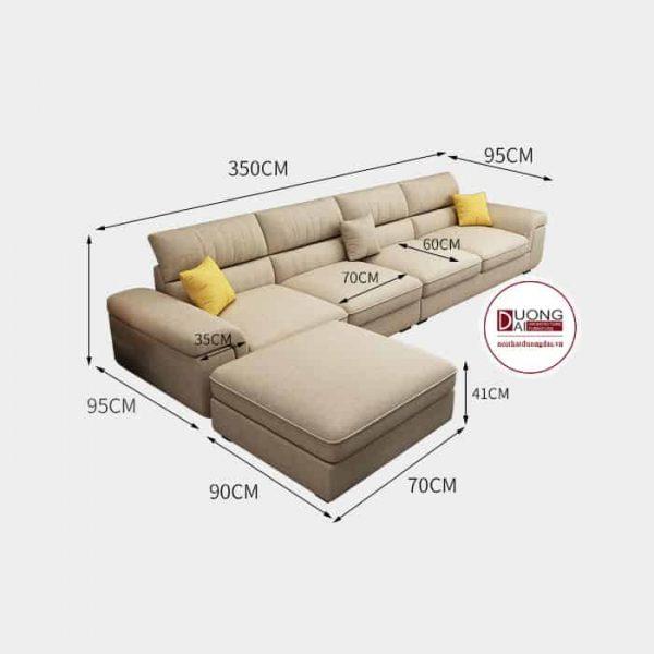 Sofa Góc Nỉ Browning