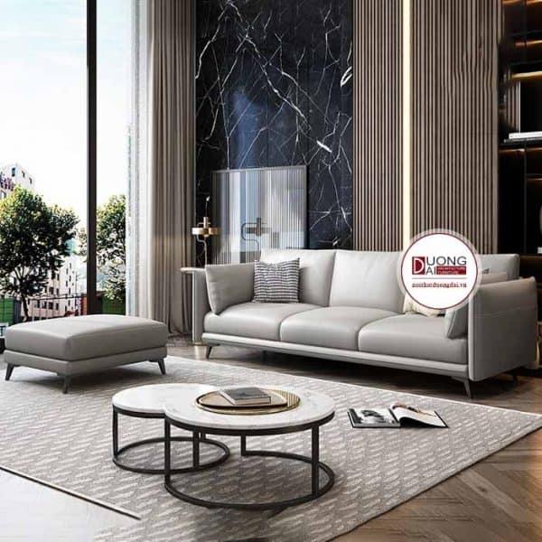 Sofa da hiện đại - Mẫu sofa văng da Plaza |Nội Thất Đương Đại