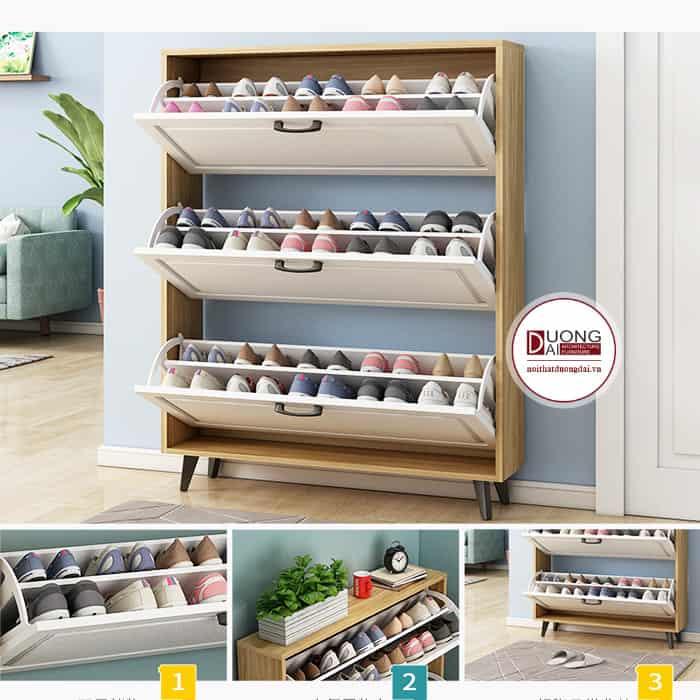 Tủ Giày Thông Minh 3 Tầng |BST 9+ Mẫu Tủ Tiện Nghi Và Đa Năng