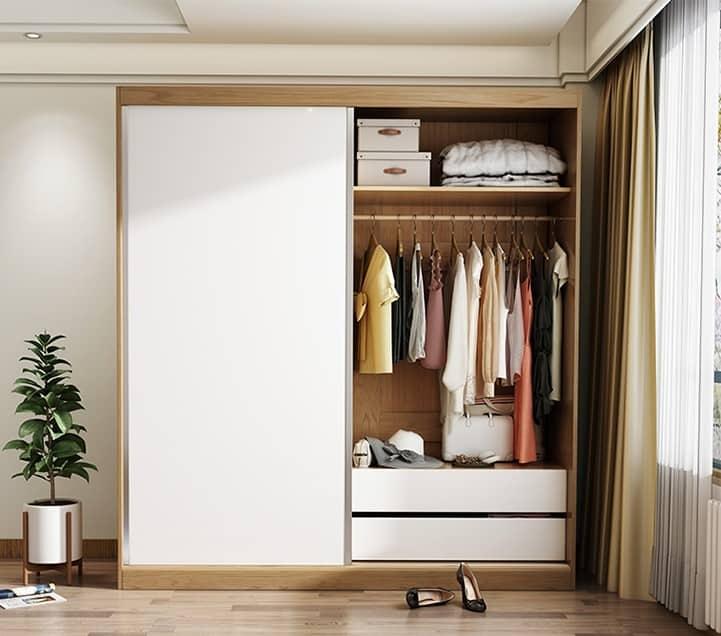Tủ quần áo cửa lùa 1m6 và những điều cần biết