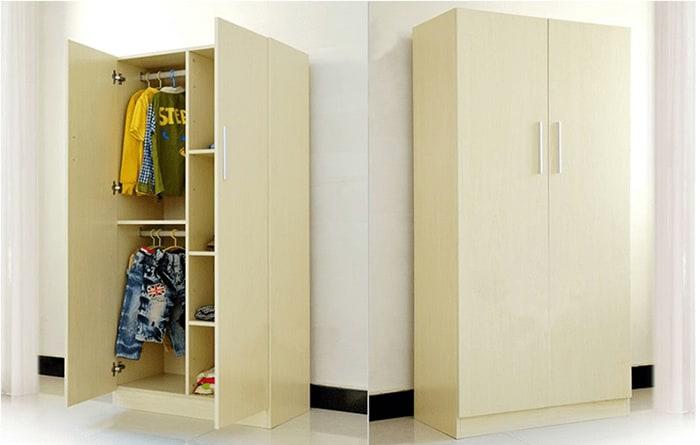 Mẫu tủ nhựa đơn giản và hiện đại cho phòng ngủ