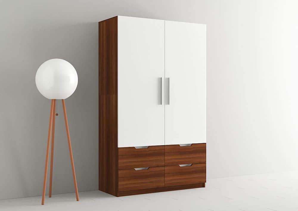 Mẫu tủ 2 cánh đơn giản với mức giá hợp lý